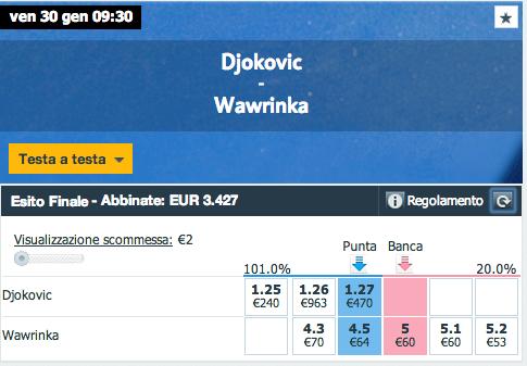Djokovic - Wawrinka